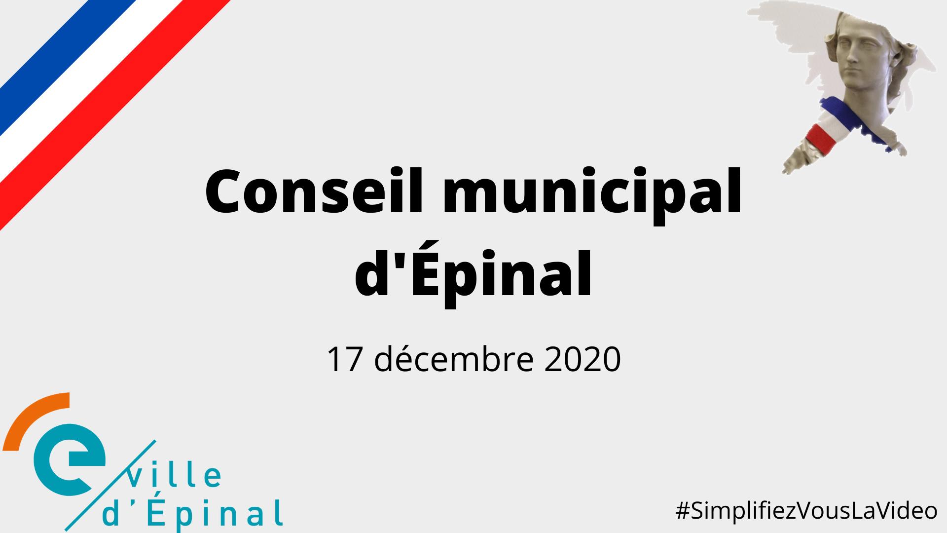 Conseil Municipal du 17 décembre 2020